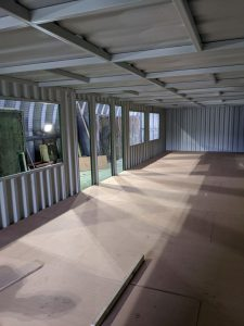 50 x 13ft with ply floor