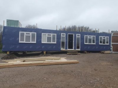 50 x13ft with doors and windows fitted on site_