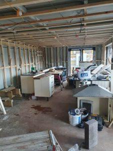 Kitchen living room in progress